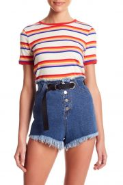 Striped Ringer Tee by Honey Punch at Nordstrom Rack