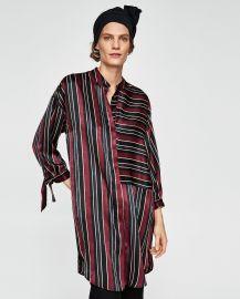 Striped Satin Dress by Zara at Zara