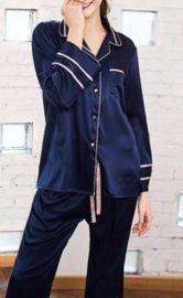 Striped Satin Sleep Suit at Sonja
