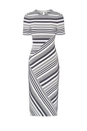 Striped Sheath Dress by Badgley Mischka at Rent The Runway