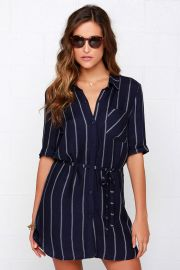 Striped Shirt Dress at Lulus