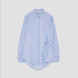 Striped Shirt with Buckle Detail by Zara at Zara