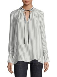 Striped Silk Blouse at Saks Fifth Avenue
