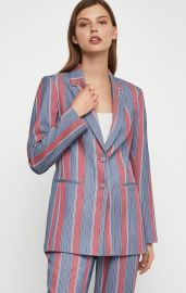 Striped Single Breasted Blazer at BCBGMAXAZRIA