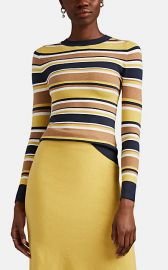 Striped Stretch Cotton-Blend Sweater at Barneys