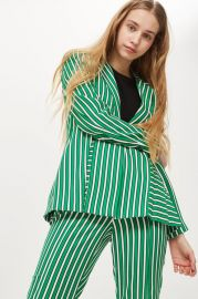 Striped Suit Jacket at Topshop