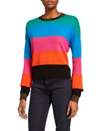 Striped Sweater with Metallic Trim at Last Call
