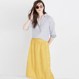 Striped Tie Back Shirt at Madewell