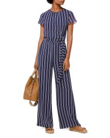 Striped Tie-Detail Jumpsuit at Bloomingdales
