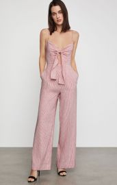 Striped Tie Front Jumpsuit at Bcbgmaxazria