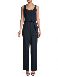 Striped Tie-Waist Jumpsuit by Karl Lagerfeld Paris at Saks Off 5th
