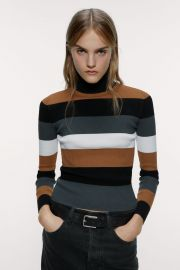 Striped Turtleneck Sweater at Zara
