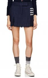 Striped Tweed Miniskirt by Thom Browne at Barneys