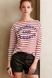 Striped Weekend Tee at Anthropologie