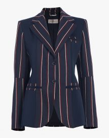 Striped Wool Jacket at Olivala