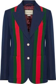 Striped Wool and Silk-Blend Blazer by Gucci at Net A Porter