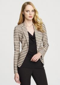 Striped blazer  at Anne Klein