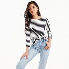 Striped boatneck T-shirt at J. Crew