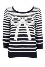 Striped bow sweater at Wallis at Wallis