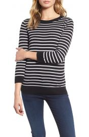 Striped button back sweater by 1901 at Nordstrom