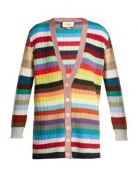 Striped cashmere and wool-blend cardigan at Matches