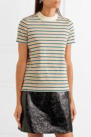 Striped cotton T-shirt at Net A Porter