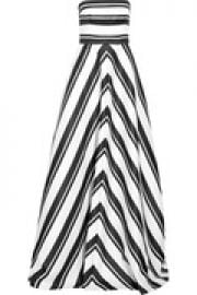 Striped crepe gown at The Outnet