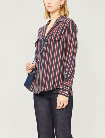 Striped crepe shirt at Selfridges
