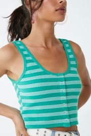 Striped cropped tank top at Forever 21