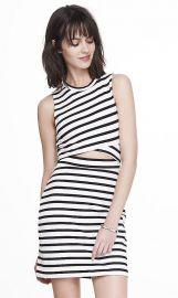 Striped cutout mini dress at Express