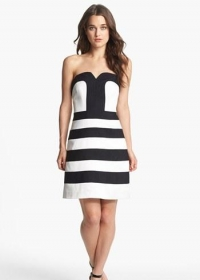 Striped fit and flare dress by Laundry by Shelli Segal at Nordstrom