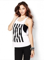 Striped heart tank at Garage