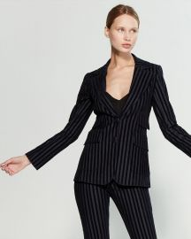 Striped long blazer at Century 21