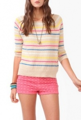 Striped oatmeal sweater at Forever 21