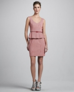 Striped peplum dress by Nanette Lepore at Neiman Marcus