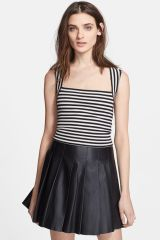 Striped ponte crop top by L Agence at Nordstrom Rack