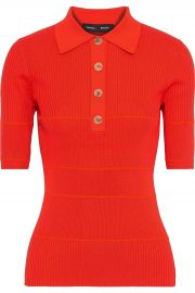 Striped ribbed Polo Shirt by Proenza Schouler at The Outnet