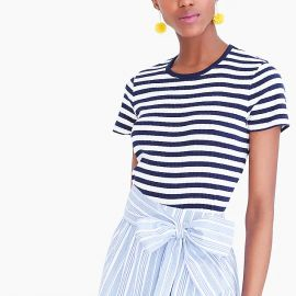 Striped ribbed T-shirt at Factory J. Crew