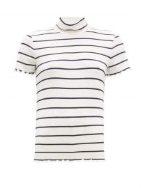 Striped roll-neck rib-knitted top at Matches