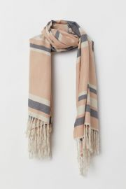 Striped scarf at H&M