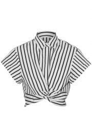 Striped shirt by T by Alexander Wang at The Outnet