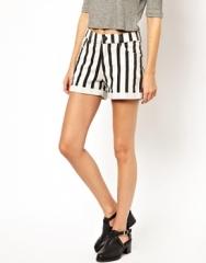 Striped shorts at Asos