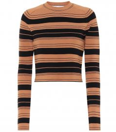 Striped silk-blend sweater at Mytheresa