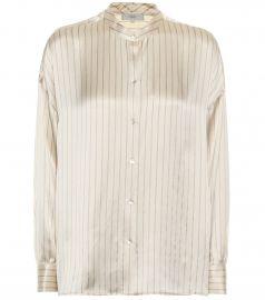 Striped silk-satin blouse at Mytheresa