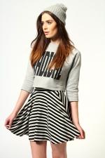 Striped skirt like Tamaras at Boohoo