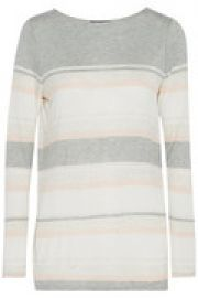 Striped stretch-jersey T-shirt at The Outnet