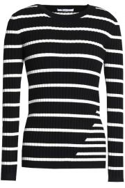 Striped stretch-knit top at The Outnet