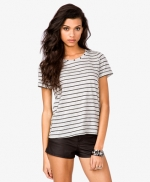 Striped studded tee at Forever 21 at Forever 21