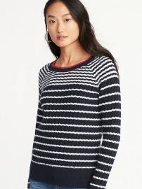 Striped sweater at Old Navy