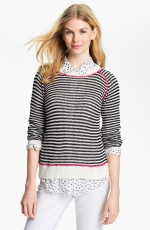Striped sweater with neon at Nordstrom at Nordstrom